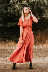 The Timberlake Maxi Dress in Rouge
