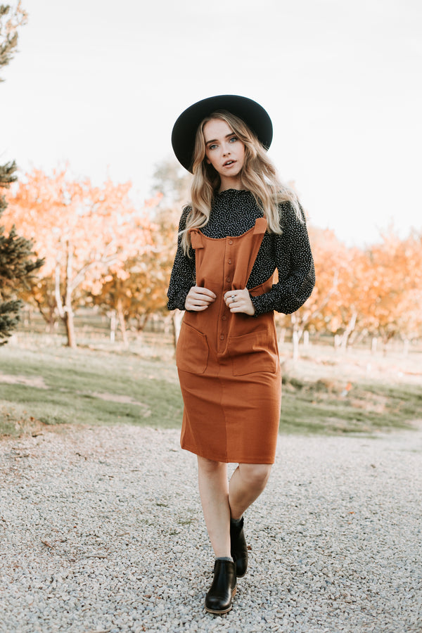 The Shevlin Jumper Dress in Camel