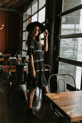 Piper & Scoot: The Nellie Floral Tiered Dress in Black