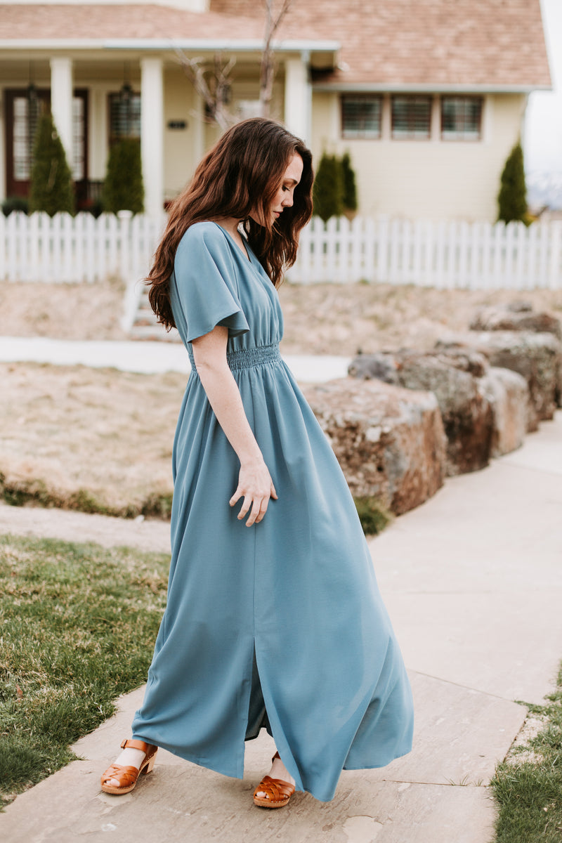 The Timberlake Maxi Dress in Periwinkle