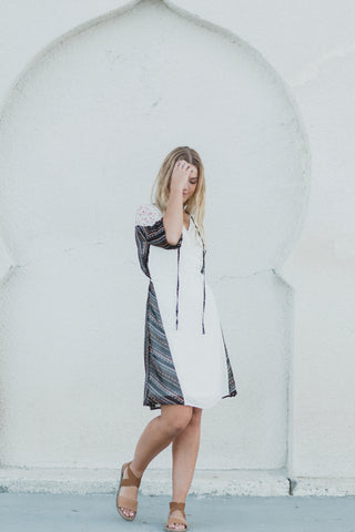 The Pearl Empire Casual Dress in Charcoal