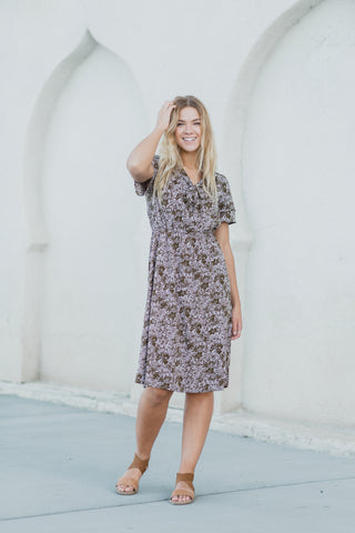The Mesmerize Denim Button Dress