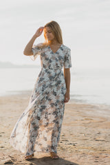 02f8d7e8 Piper & Scoot: The Jacqueline Floral Wrap Dress in Ivory · $ 62.00 · The  Frosting Linen Button Up Blouse ...