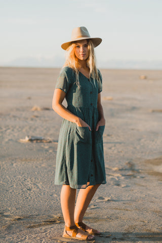 Piper & Scoot: The Lauren Empire Dress in Mulberry