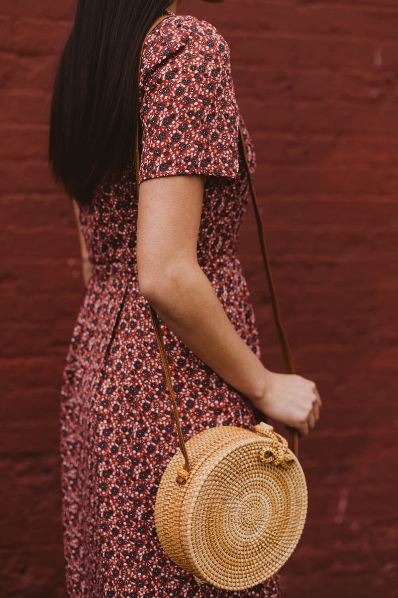 The Sundaze Floral Dress in Brick