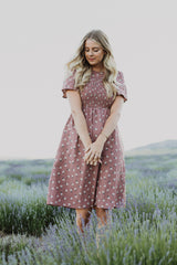 Piper & Scoot: The Knight Tiny Floral Dress in Mauve