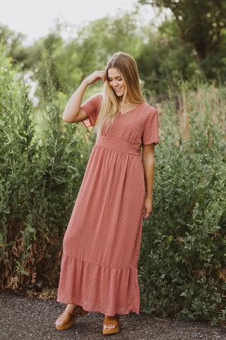 The Raymond Tie Dress in Blush