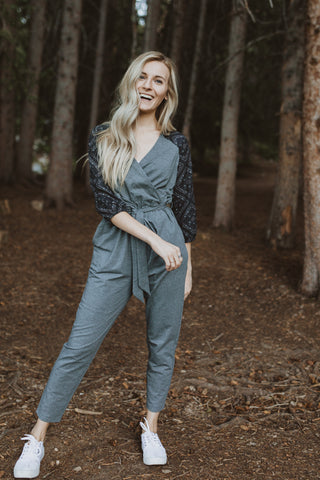 The Outline Plaid Trousers in Taupe