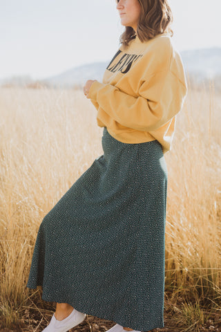 The James Sweater Skirt in Indigo