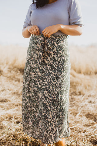 The Vivid Check Maxi Dress in Mauve