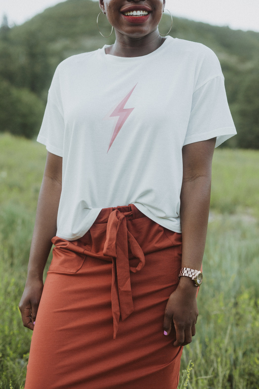 The Raiden Bolt Graphic Tee in White