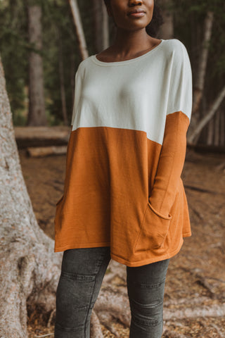 The Reycroft Button Cardigan in Clay