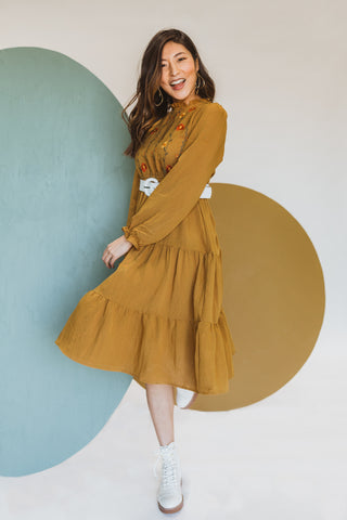 Piper & Scoot: The Alida Dress in Hunter Green