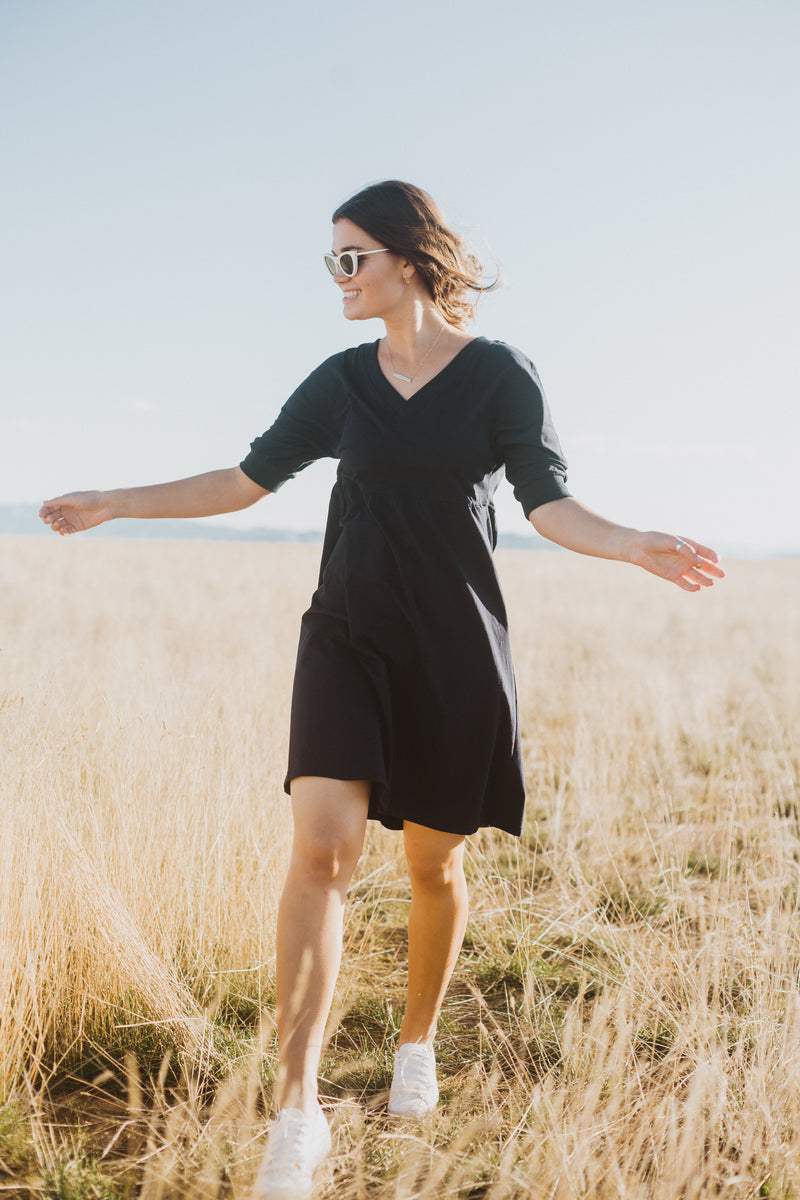 Piper & Scoot: The Jessie Casual Dress in Navy