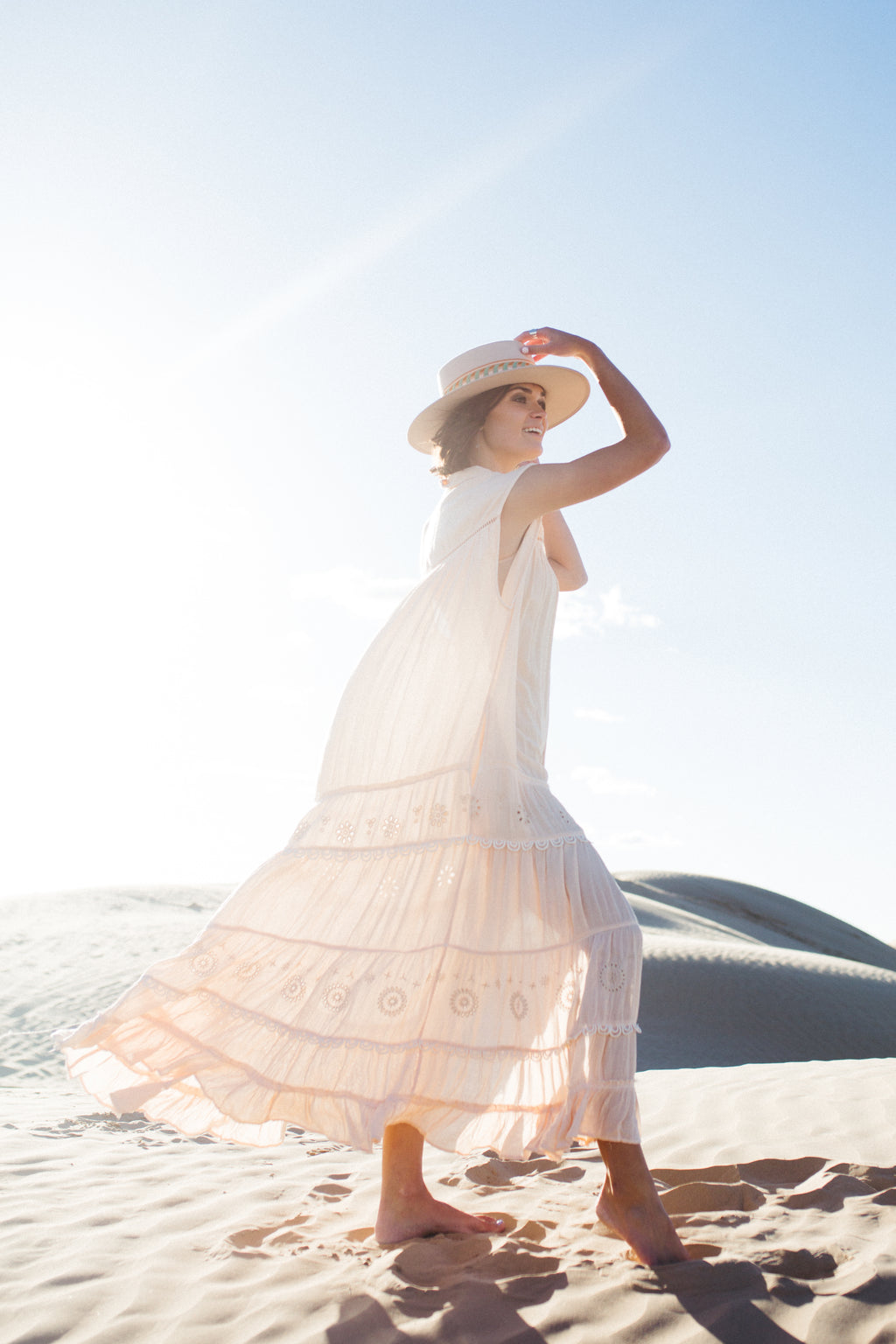 Free People: Pretty Cozy Maxi Dress in Ecru