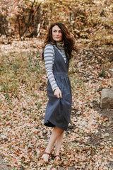 The Aldrich Jumper Dress in Charcoal
