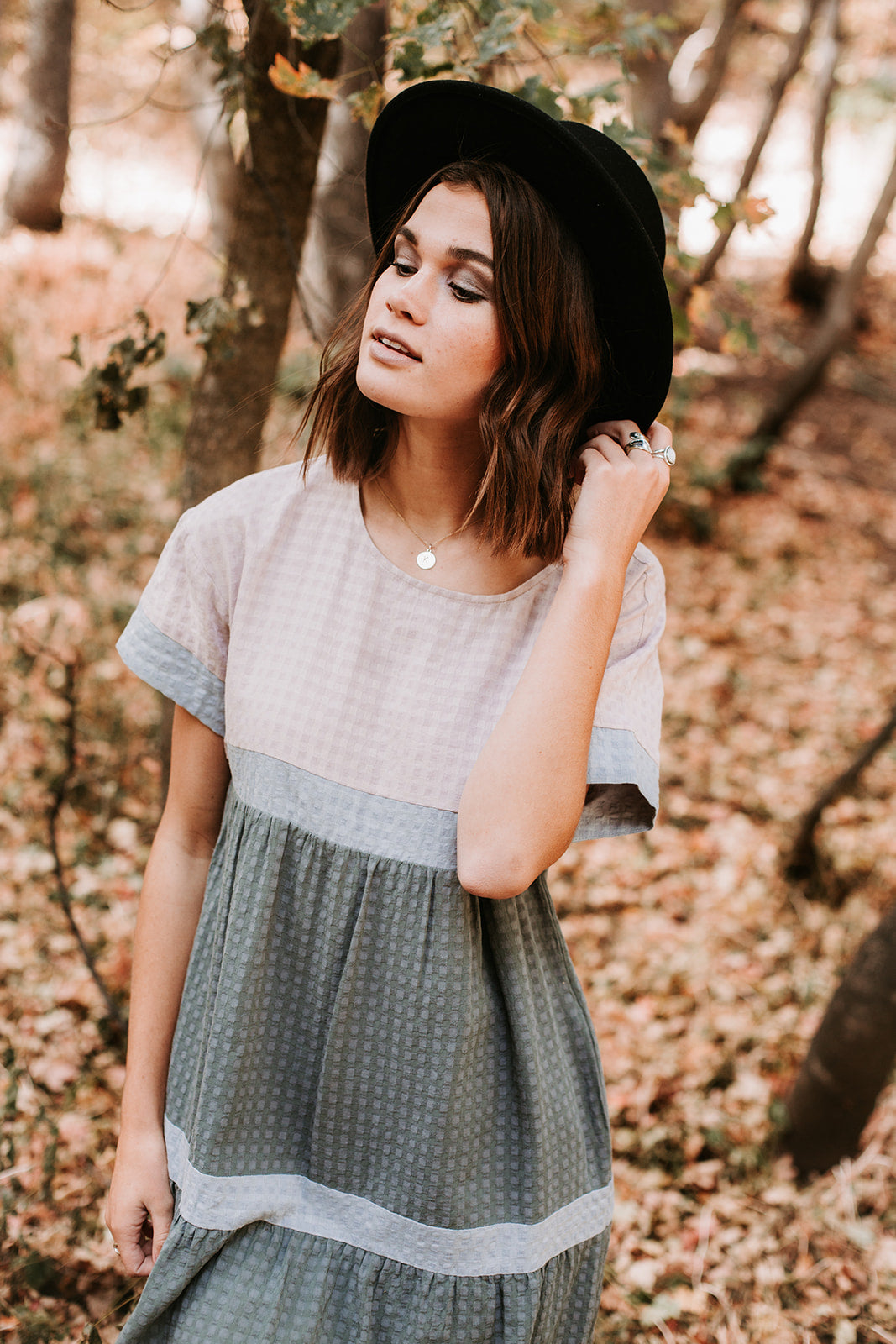 Piper & Scoot: The Hudson Patterned Tiered Dress in Rose