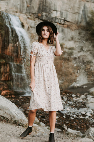 The Clarkdale Floral Dress in Blush