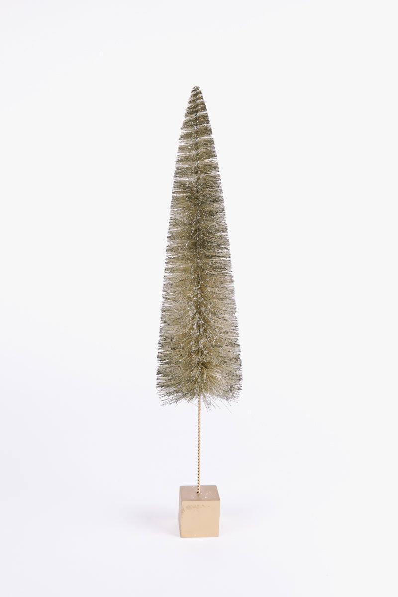 HOLIDAY: Medium Bottle Brush Tree in Champagne Gold