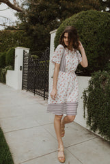 Piper & Scoot: The Christine Floral Dress in Ivory