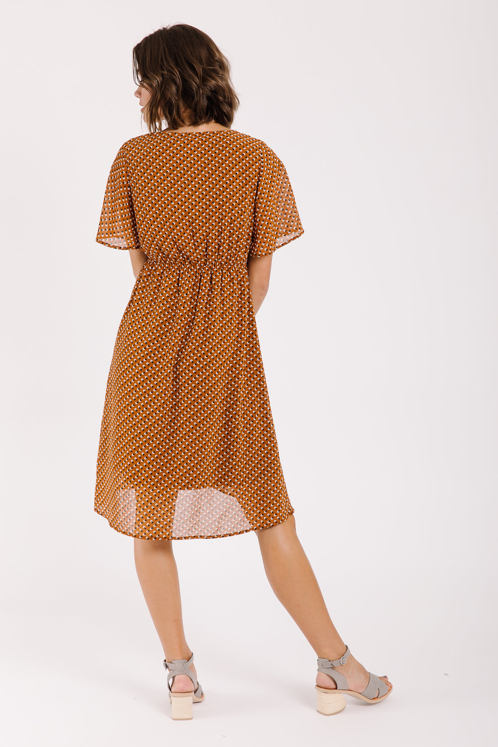 Piper & Scoot: The Hamilton Patterned Empire Dress in Rust