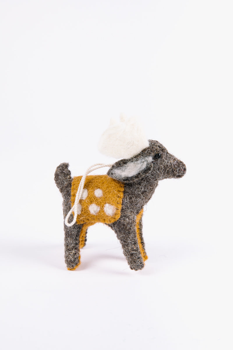 HOLIDAY: Wool Reindeer Ornament