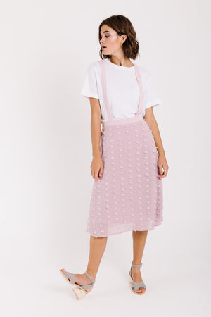 Piper & Scoot: The Ellis Swiss Midi Skirt in Mauve