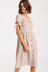 Piper & Scoot: The Rockefeller Floral Tie Sleeve Dress in Natural