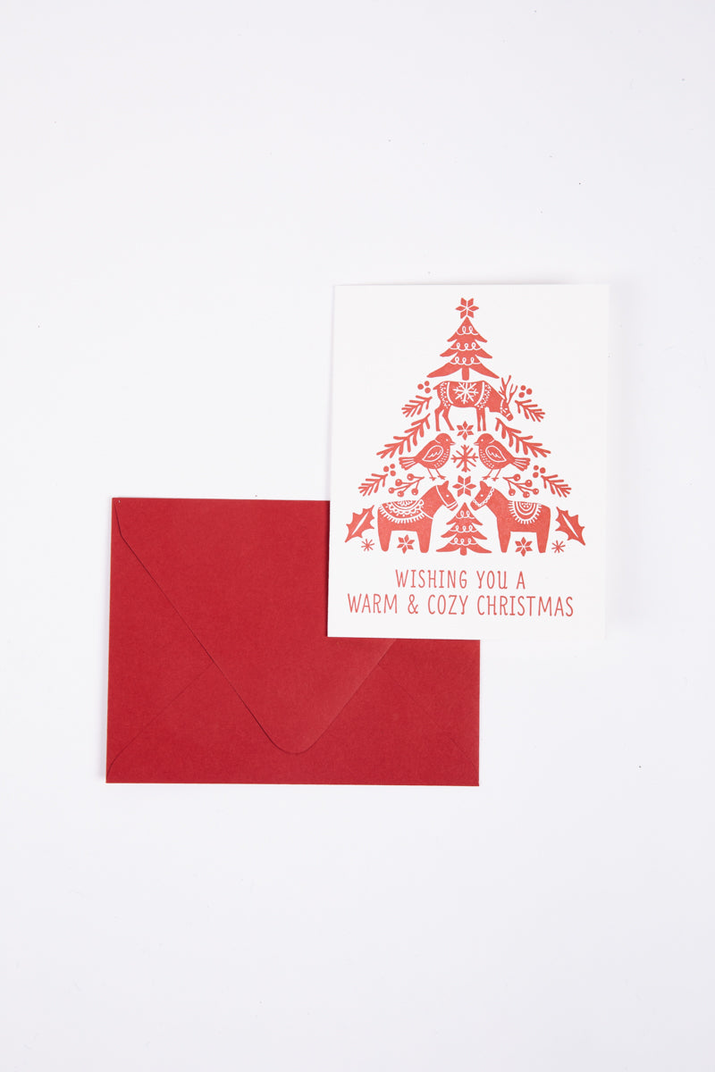 XMAS: Paper Source Holiday Dala Tree Cards Set of 8 – Piper & Scoot