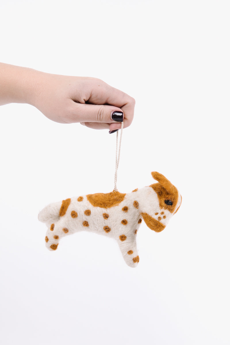 HOLIDAY: Felt Dog Ornaments Set of 3