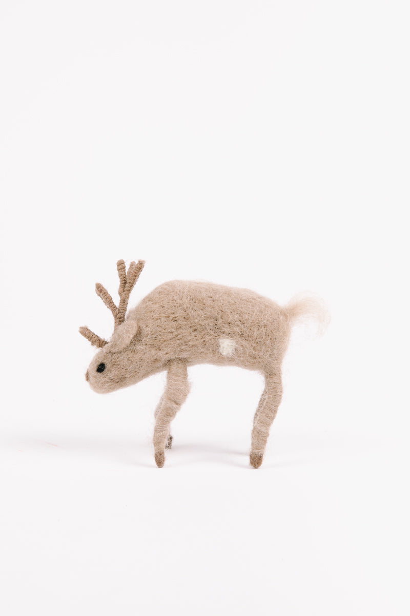 HOLIDAY: Wool Spotted Deer Set of 2