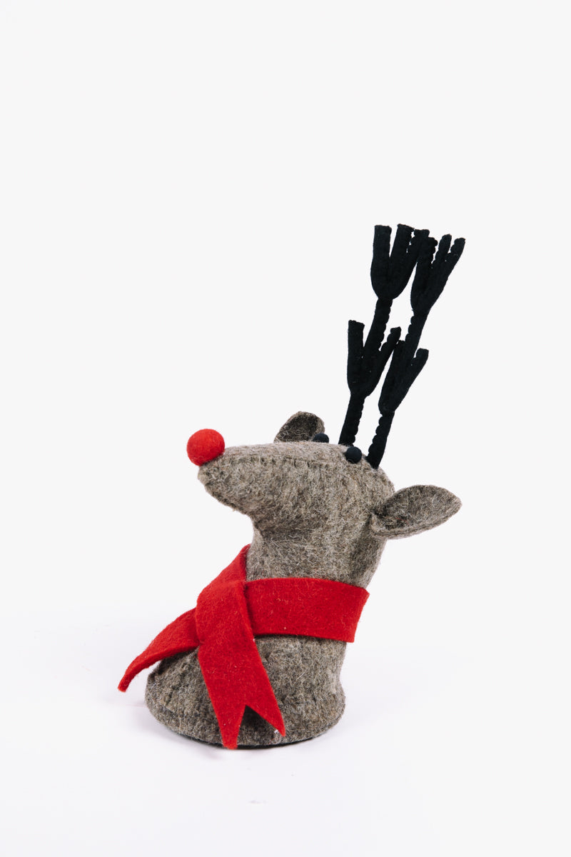 HOLIDAY: Wool Reindeer Wall Bust