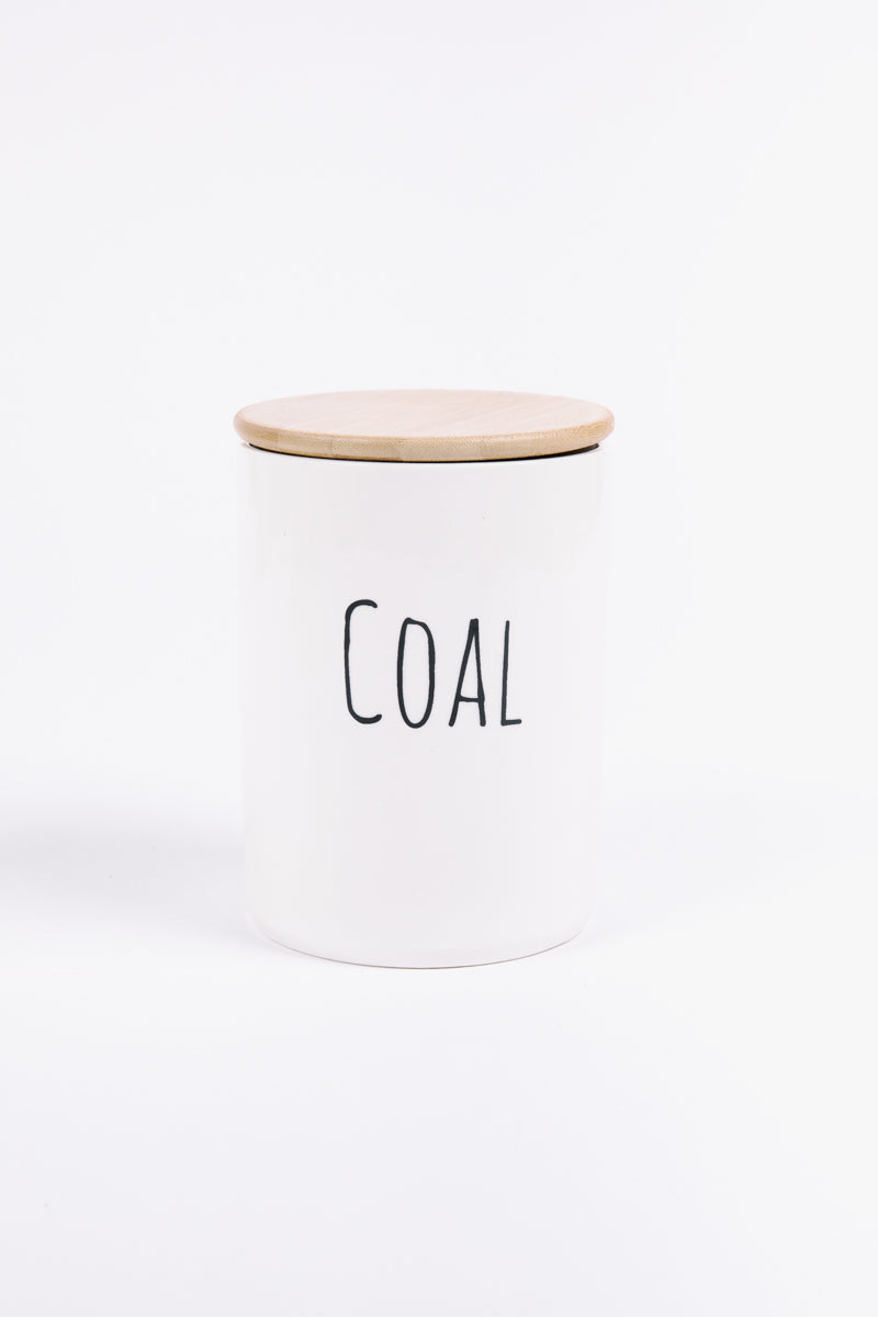 HOLIDAY: Stoneware Christmas Coal Jar