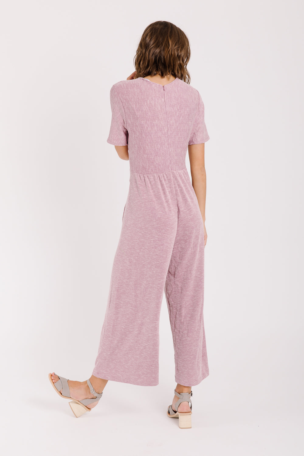 The Killington Bow Jumpsuit in Rose