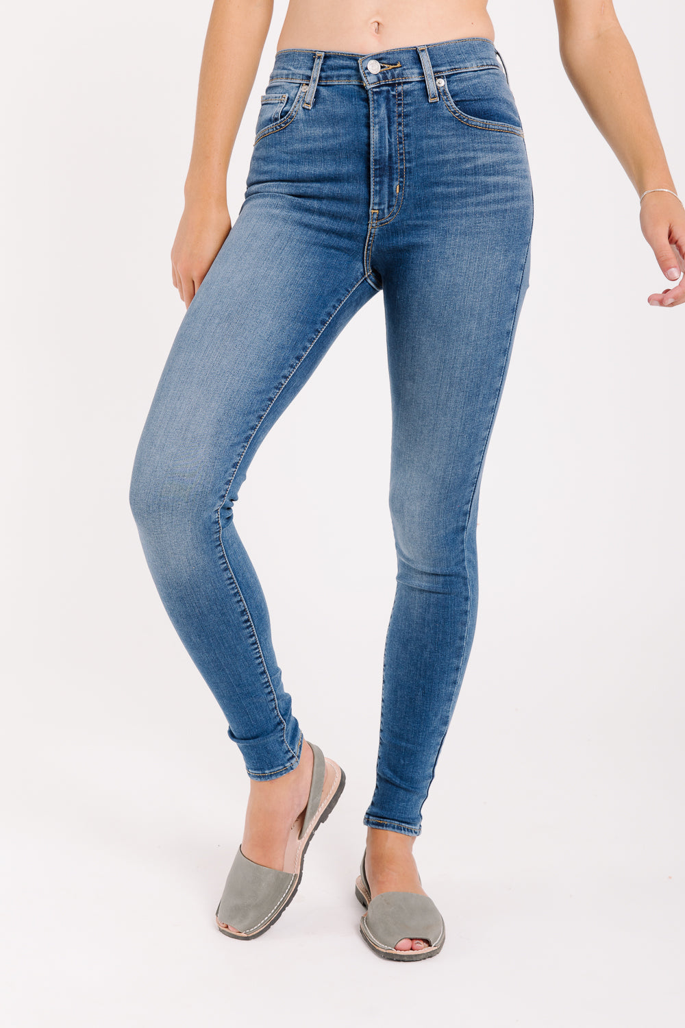 3d42b88a Levi's: Mile High Super Skinny Jeans in Shut The Front Door – Piper & Scoot