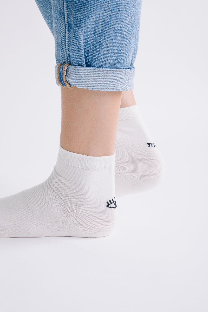 Piper & Scoot: Wink Cream Socks