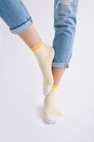 Tonal Dapple Crew Sock in Oat