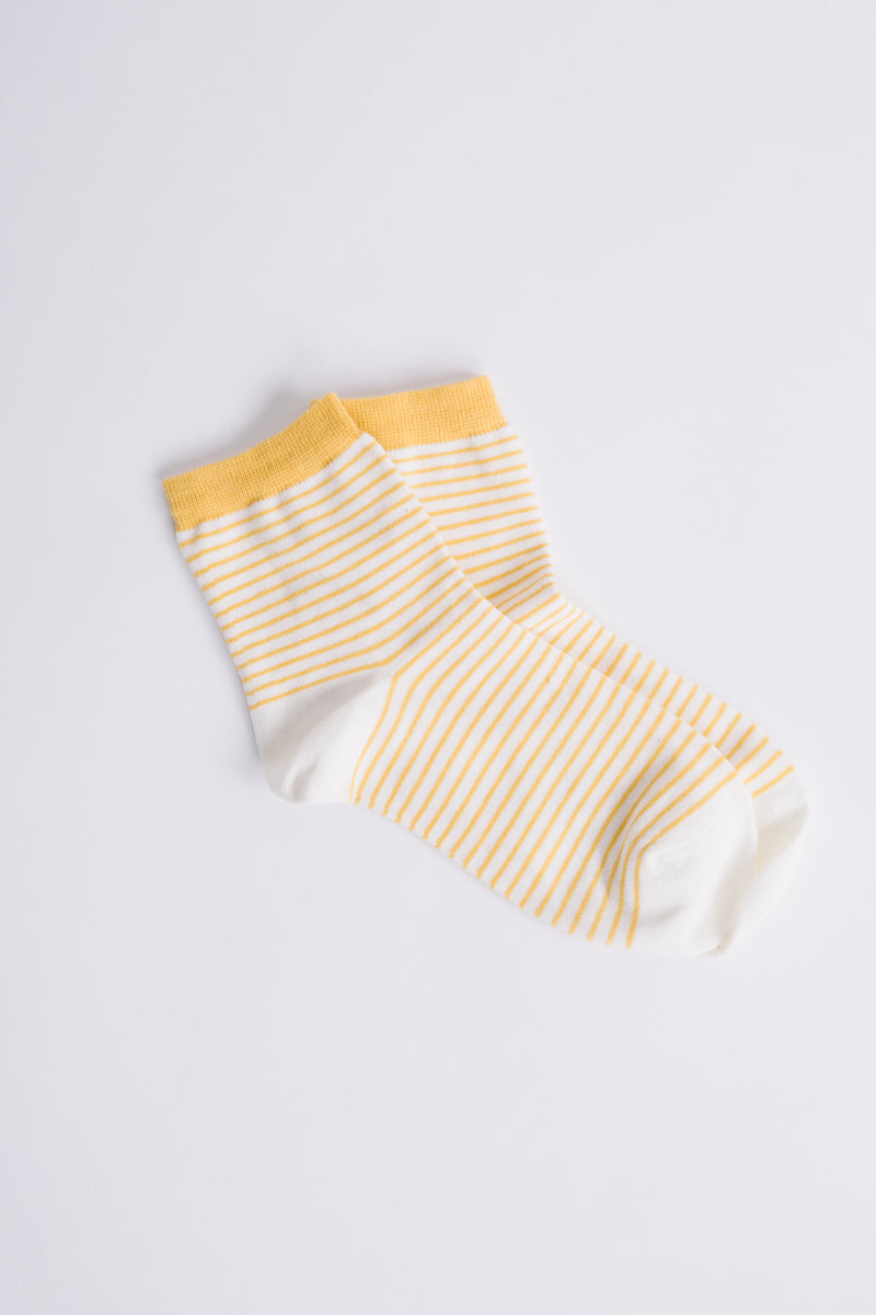 Piper & Scoot: Gold and Cream Stripe Socks