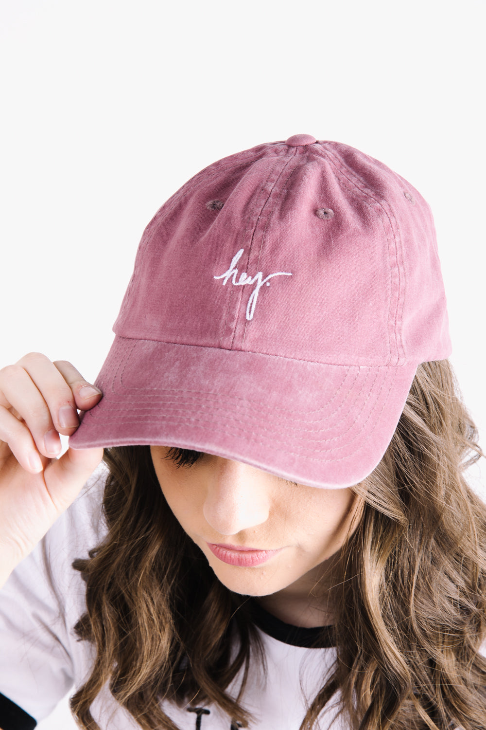 Piper & Scoot: The hey. Cap in Faded Burgundy