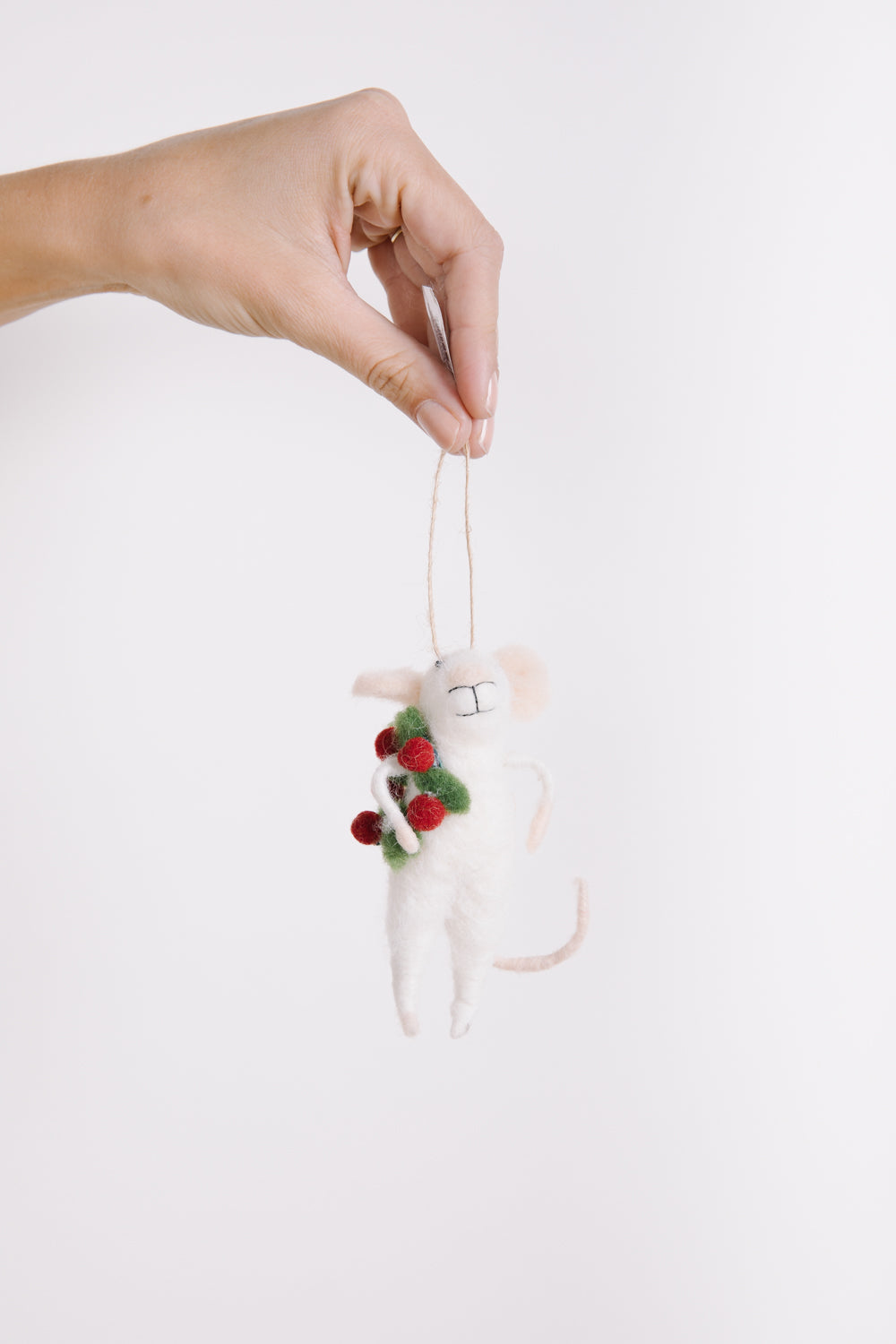 HOLIDAY: Jolly Jones Felt Wreath Mouse Ornament