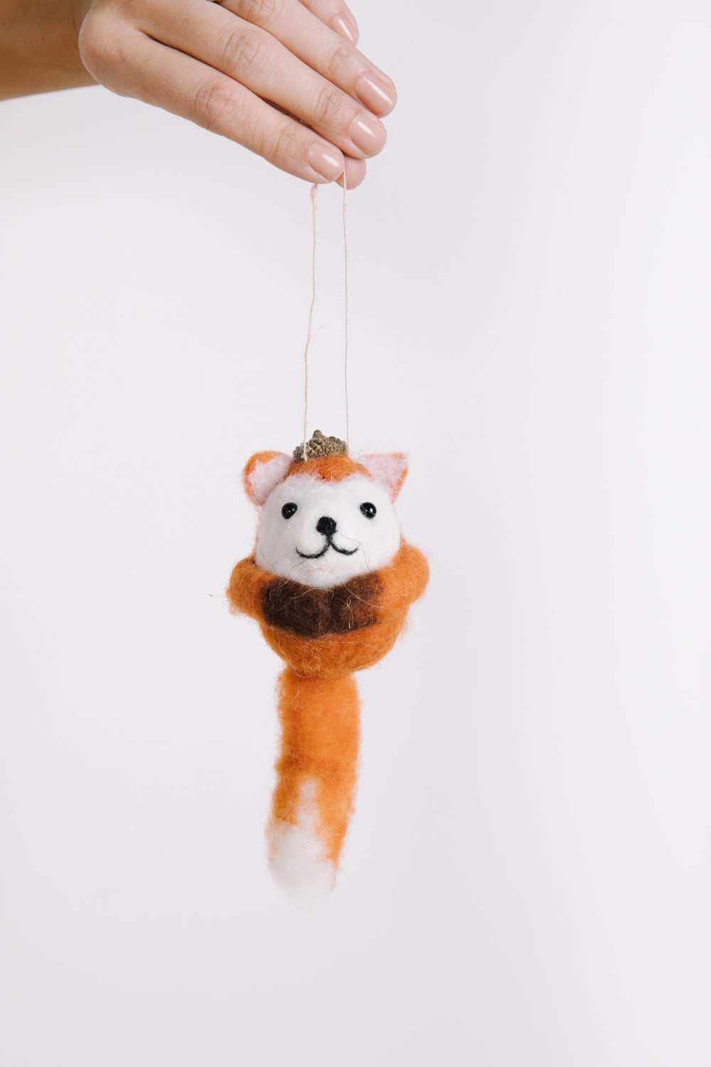 HOLIDAY: Fox Felt Bauble Ornament