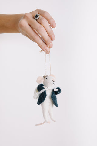 XMAS: Wool Felt Goat Ornament