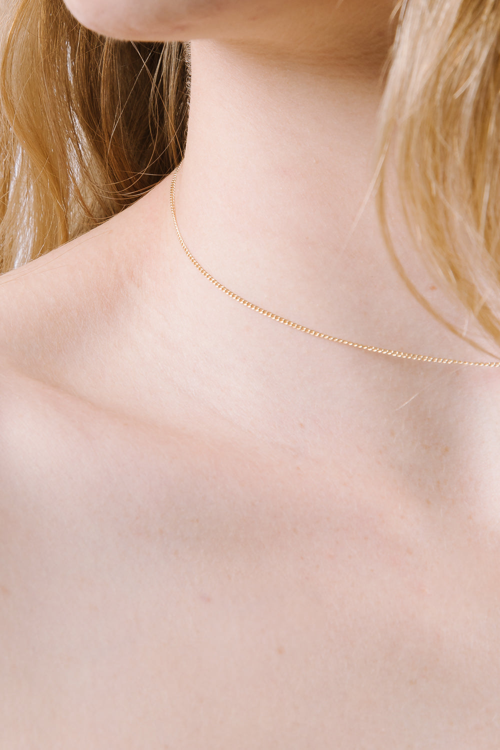 Plain Chain Choker in Gold