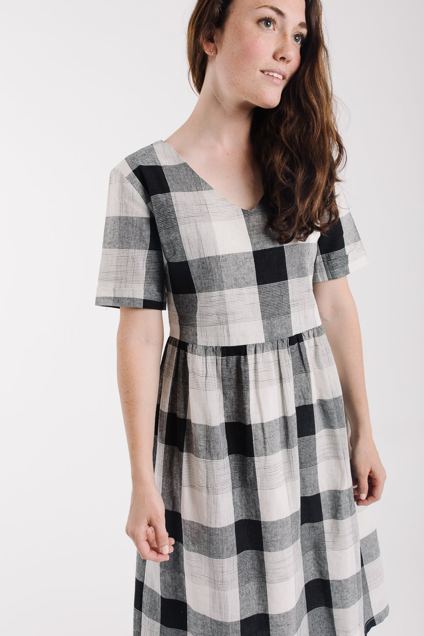 Piper & Scoot: The Lennon Plaid Dress in Black Check
