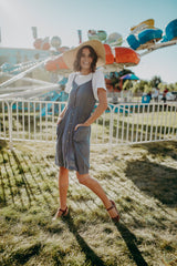 The Caldwell Jumper Dress in Navy Chambray
