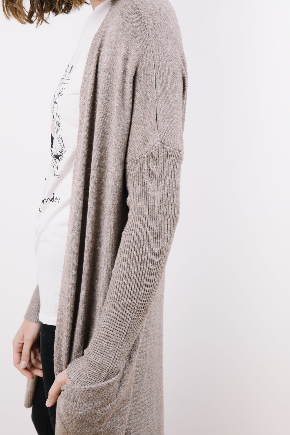 The Markie Cardigan in Mocha