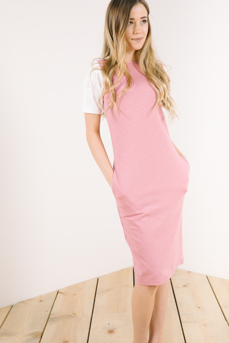 The Tahoe Dress in Dusty Rose + Ivory
