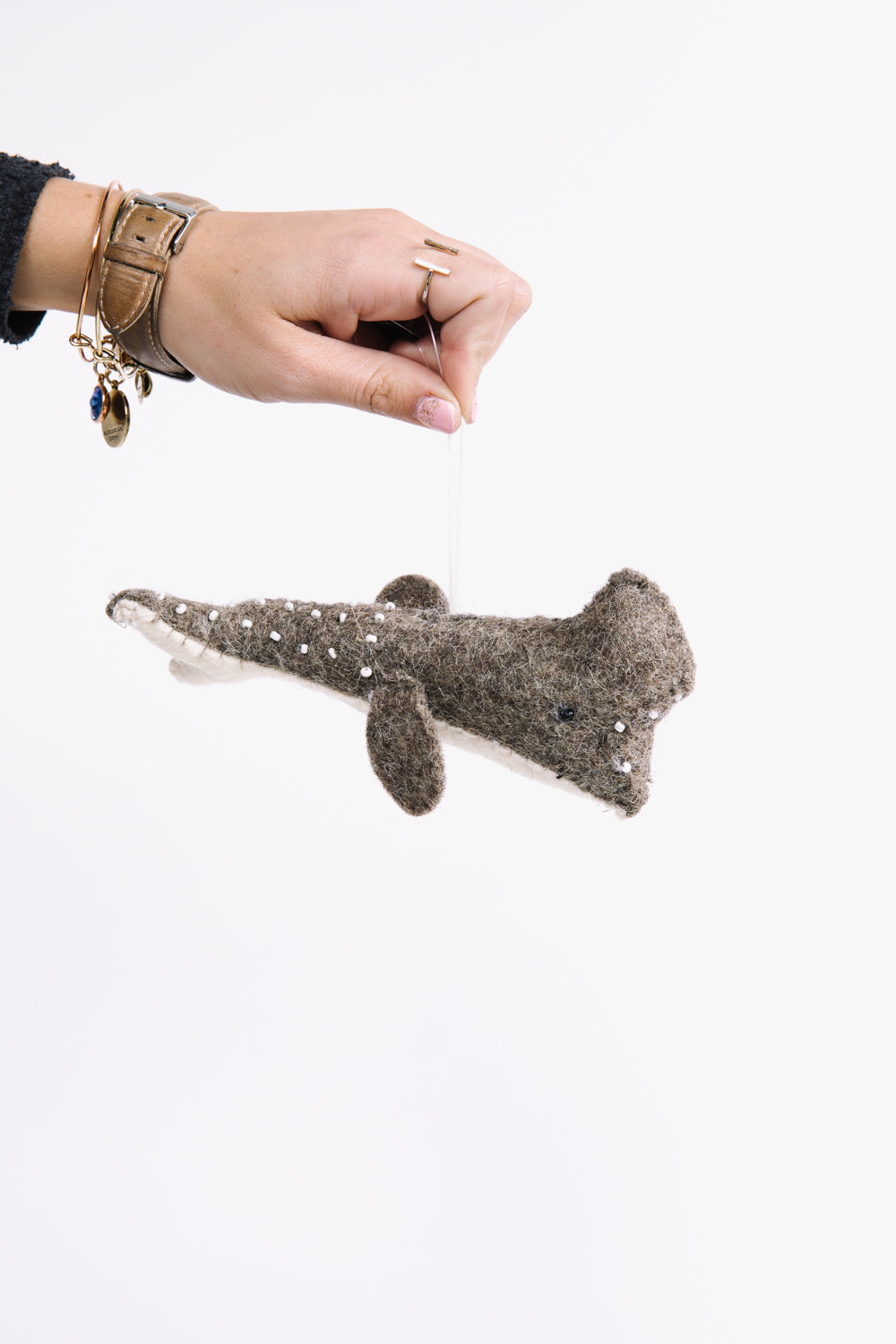HOLIDAY: Christmas Whale Felt Ornament