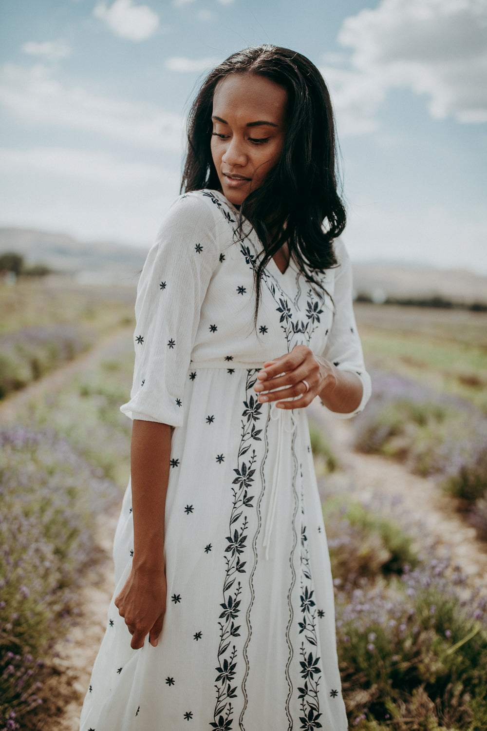 Piper & Scoot: The Avery Embroidered Dress in White