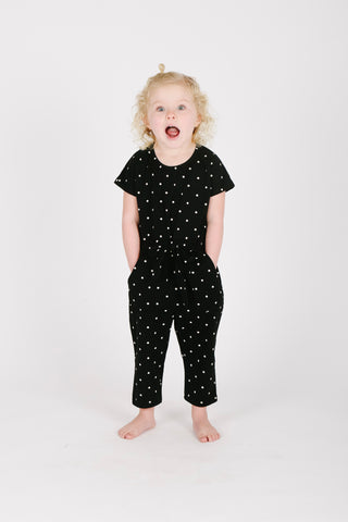 Piper & Scoot: The Slip Patch Patterned Dress in Black